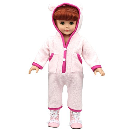 Shero 12 - 16 Inches Bear Rompers Doll's Clothes Fits American Girl Doll and other Dolls Pink from Shero