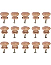 SUPVOX Houten knoppen kast meubels lade knoppen trekken handgrepen met schroef voor café hotel restaurant wooncultuur (kleine stijl) 15 stuks