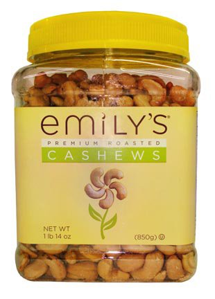 Emily's Roasted & Salted Premium Cashews 35oz