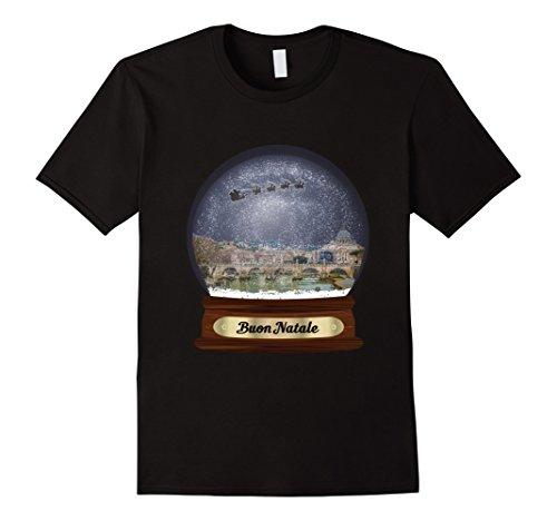 Mens Buon Natale Snowdome Rome Shirt 2XL Black