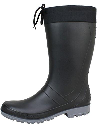 BOCKSTIEGEL® AXEL Hombres - Botas de goma de alta calidad (Tallas: 36-47) black/dk-grey