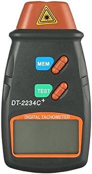 Ballylelly Digital Laser Foto Tachometer Nicht Kontakt Drehzahl Tachometer Digital Laser Tachometer Geschwindigkeitsmesser Geschwindigkeits Messgerät Maschine Baumarkt
