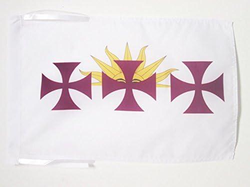 AZ FLAG Bandera de la HISPANIDAD 45x30cm - BANDERINA Idioma ESPAÑOL - ESPAÑA 30 x 45 cm cordeles: Amazon.es: Jardín