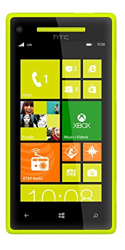 HTC 8X 8GB Unlocked GSM 4G LTE Dual-Core Windows 8 Smartphone - Lime Yellow - AT&T - No Warranty (8x Verizon Htc)