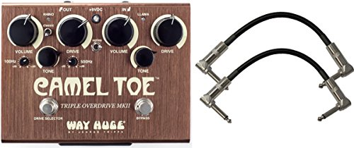 Way Huge Green (Way Huge WHE209 Camel Toe Triple Overdrive MKII Pedal with Patch Cables)