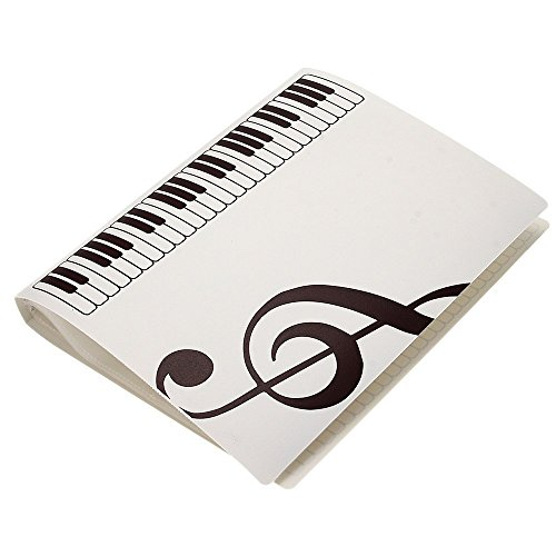 wogod Música Hoja Archivo Papel Carpeta Titular de almacenamiento de documentos de plástico. Tamaño A4, 40fundas,...