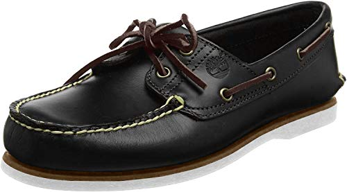 Timberland Men's Classic 2-Eye Boat Shoe, Navy Smooth, 7 M