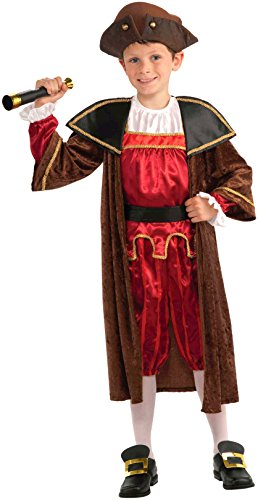 Forum Novelties Children's Christopher Columbus Costume, Small (Colonial Day Costumes)