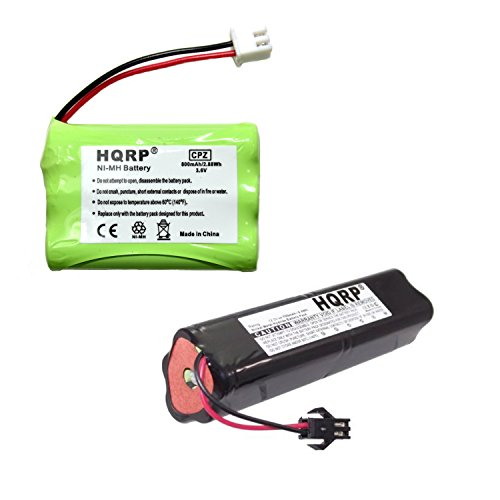 HQRP Battery Kit for Tri-tronics 1064000 DC-12 1038100 1107000, Classic 70, Trashbreaker Ultra XL, Beagler XL, Flyway Special XL Remote Controlled Dog Training Collar Receiver Transmitter + Coaster ()