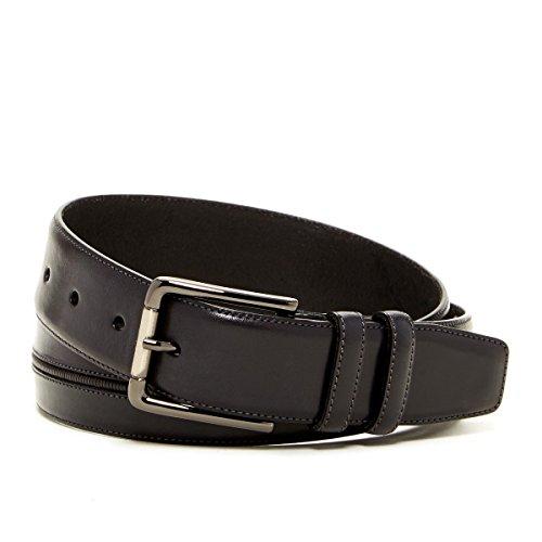 Mezlan Men's Vaqueta Leather Belt (32, Black)