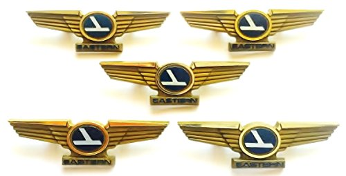 Kids Aviator Vintage Airlines Plastic Pilot Wing Pins Lot of