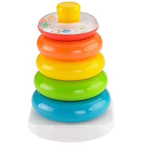 (Brilliant Basics Rock-a-Stack Rainbow Stacker Classic Toy Smooth Rings Developmental Toys for Child 1Set)