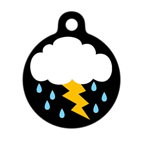 Thunderstorm Pet Tag, Dog Tags, Cat Tags, Personalized Pet Tag, Gift for - Mall America Luggage Of