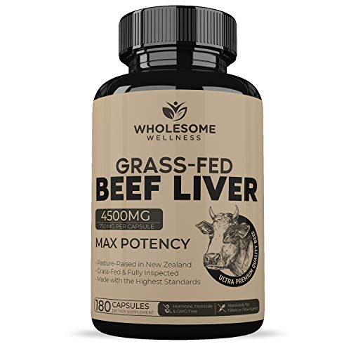 Grass fed Liver Capsules Dessicated Milligrams product image