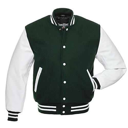 Green Wool Varsity Jacket - 2