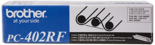 Brother Printers 2 Refill Rolls For Use IN PC402 Ppf-560 580Mc MFC-660Mc (560 Fax Ribbon Refill)