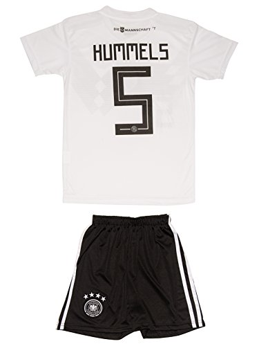 AMDS Soccer Youth Jersey Set ● Germany ● Home Jersey ● World Cup 2018 ● # 13 Müller & # 1 Neuer & # 5 Hummels & # 10 Ozil (10-11 ages ● X-Large, Hummels) - 1 Youth Football Jersey
