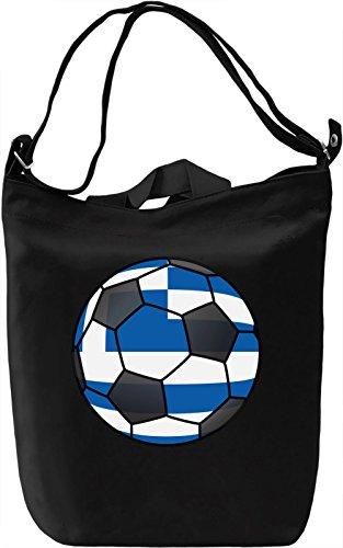 Greece Football Borsa Giornaliera Canvas Canvas Day Bag| 100% Premium Cotton Canvas| DTG Printing|