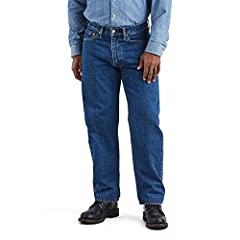 """*These classic, comfortable jeans will be your favorite from the first time you wear them *Relaxed, roomy seat and thigh fit; tapered leg *100% heavyweight cotton denim *Zip fly *16.5"""" leg opening *Machine wash *Import"""