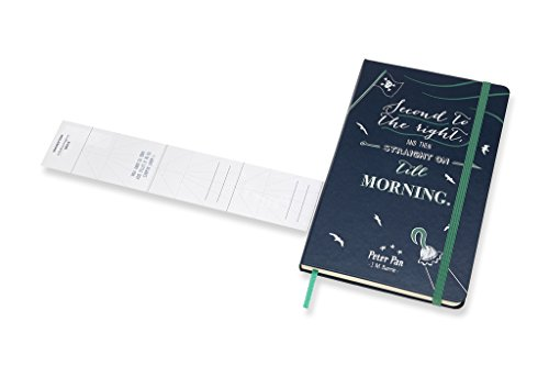 Moleskine Limited Edition Peter Pan Notebook Large Ruled Pirates Sapphire Blue (8055002855488)