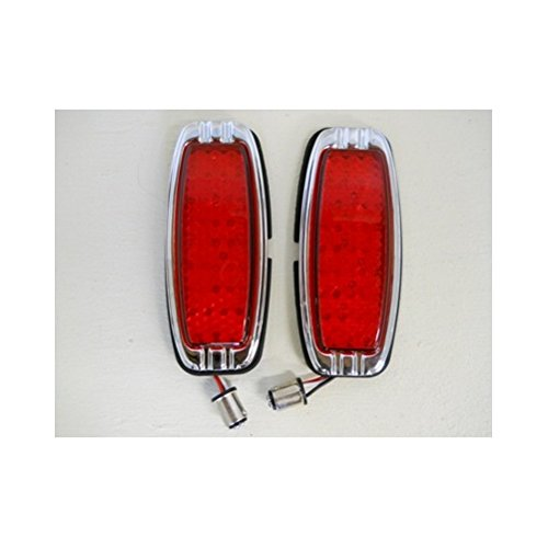 United Pacific 1941-1948 Chevy 39 LED Red Brake Turn Signal Tail Lights / 1942 43 44 45 46 47 (39 Chevy)