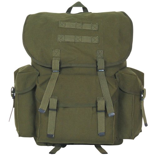 Fox Outdoor Products NATO Style Rucksack, Olive Drab, 16 x 10-Inch