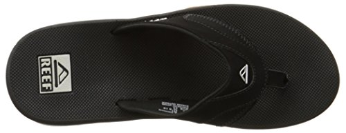 Reef Fanning Mens Sandals Bottle Opener Flip Flops for Men,Black/Silver,12 M US by Reef (Image #12)
