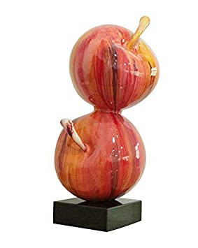 Meubletmoi Sculpture Pommes 49 cm laquée Rouge acidulé - Objet ...