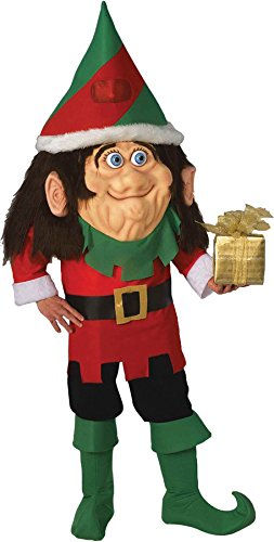 UHC Men's Elf Parade Pleaser Mascot Comical Theme Party Adult Halloween Costume