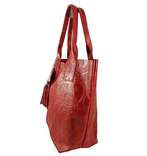 Cabas in FreyFashion pour Made Italy Rouge femme v0OwCaOq