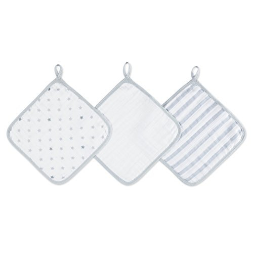 aden by aden + anais washcloth set 3 pack, dove