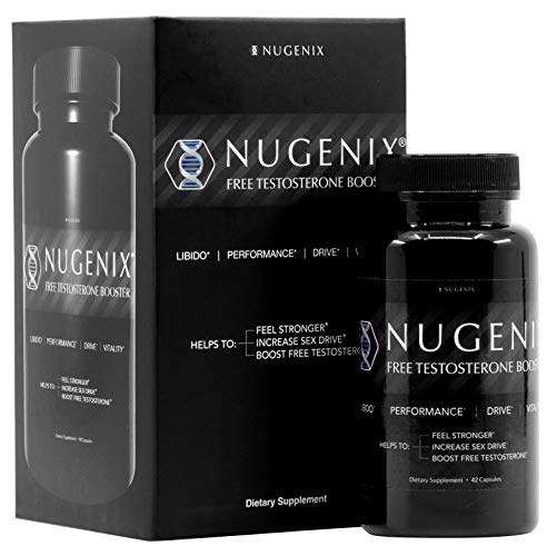 Nugenix Free Testosterone Booster for Men - Clinically Dosed, High Quality Men's Test Support, Feel Stronger and More Energetic, Helps Lean Muscle and Stamina, 42 Count