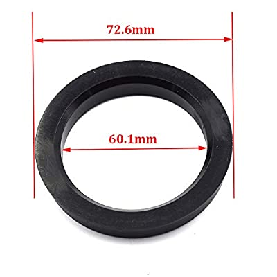 LU HWN 4X4 72.6 to 60.1 Black Plastic Hub Centric Rings - Pack of 4: Automotive