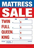 Retail Merchandising Signs LLC T50MAS Furniture Mattress Sale Twin-Full-Queen-King - Slotted Sale Tags - 5'' x 7'' (100 Pack)