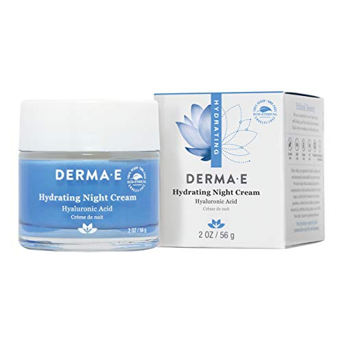DERMA E Hydrating Night Cream with Hyaluronic Acid, - Hydrating Comfort Cream