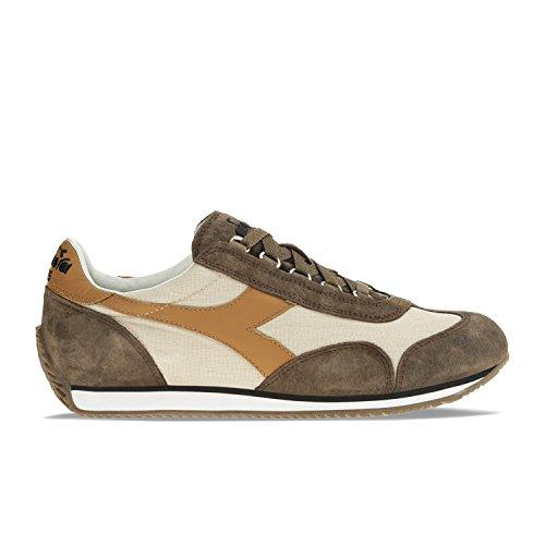 Diadora Equipe Stone Wash 12, Chaussures Basses Mixte Adulte, Blu + Bianco C6145 - BLANC-BROWN HAWK