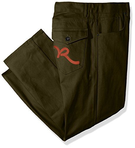 Rocawear Men's Big and Tall Battler Pant, Army Green, 52/32