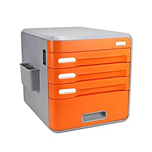 desk with locking drawers locking desktop organizer evertop office 14696