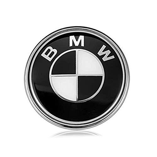 BMW Emblems Hood and Trunk, Black BMW Emblem Logo Replacement 82mm for All Models BMW E30 E36 E46 E34 E39 E60 E65 E38 3 4 5 6 7 8 (82mm)
