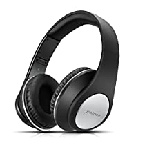 Jpodream Over Ear Bluetooth Headphones, Hi-Fi Stereo Wireless Headset, Foldable, Soft Memory-Protein Earmuffs, Built-in Mic and Wired Mode for PC/Cell Phones/TV (Rose Gold)