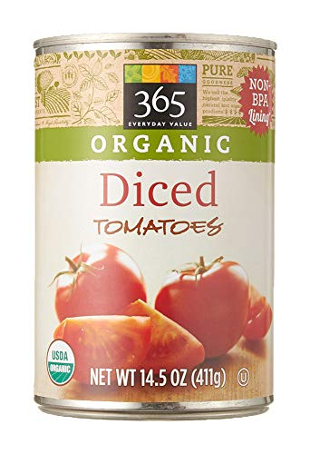 - 365 Everyday Value, Organic Diced Tomatoes, 14.5 oz