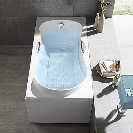Vasca idromassaggio Tappetino Antiscivolo per Vasca da Bagno con Cuscini 35,5 x 124,5 cm Bath Mat Spa Ketong Comodo per Vasca idromassaggio Cuscino con Ventosa