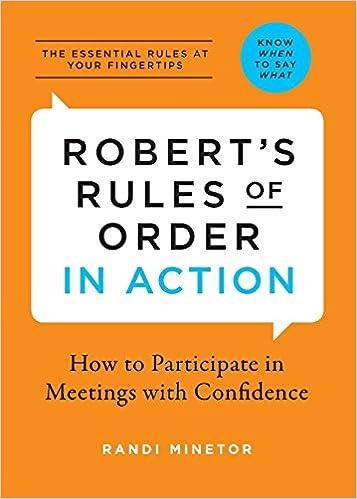 Roberts Rule Of Order Pdf