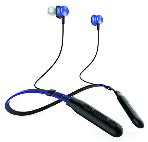 NAXA Electronics NE-971 Bluetooth Neckband Earphones with Built-in Microphone, Blue