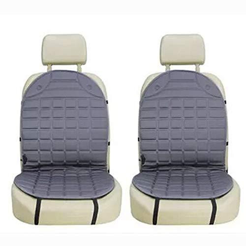 ZSQSC 12V Heated Car Seat Cushion Cover Seat,Heater Warmer, Winter Household Cushion cardriver Heated seat Cushion ZSQSC (Color : Gray 1 Set) by ZSQSeatCovers