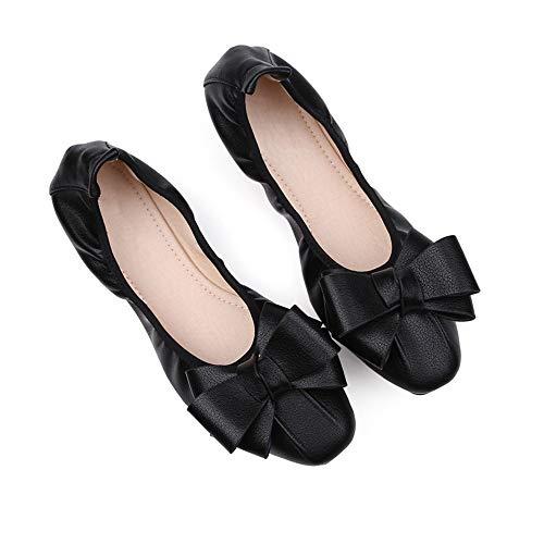 Boca Arco Forme señoras Zapatos A Las Plegable Suave Baja FLYRCX de de de Las de Zapatos Planos el Trabajo de Embarazadas Zapatos la Ballet Inferior Mujeres Zapatos Ewdpzq