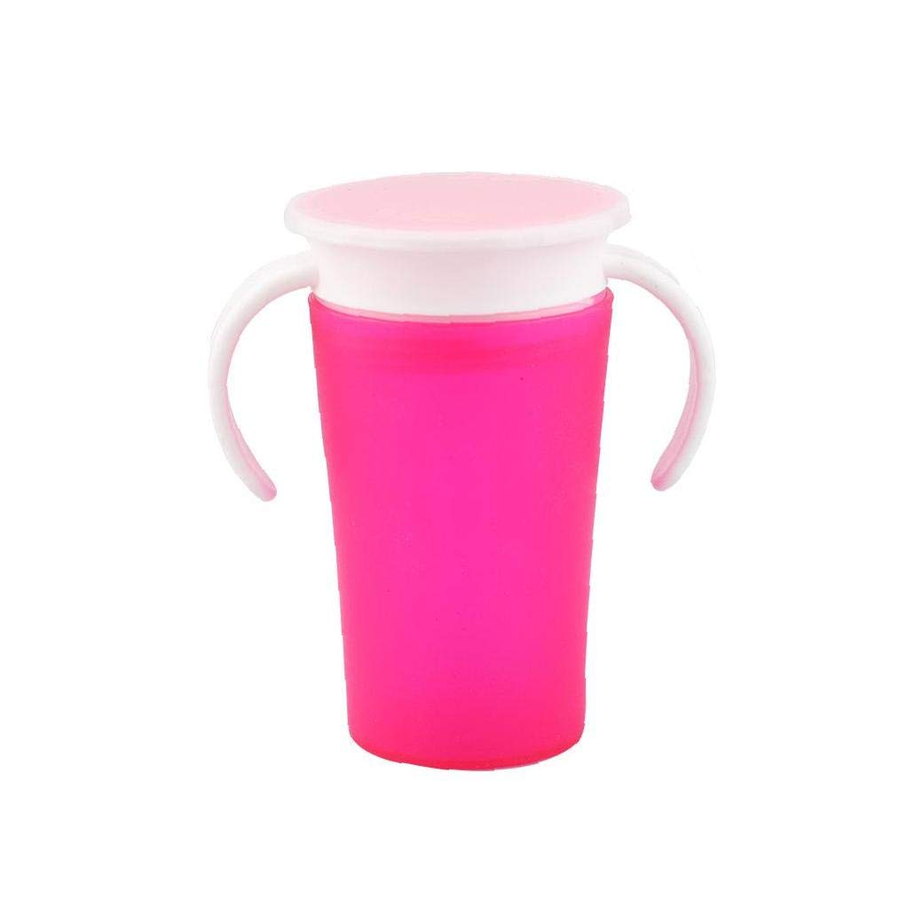 Babies Drink Training Cup Silicone Toddler First Cup Trainer Water Cup No Spill Learn Drinking Bottle Impact Resistant Babies Water Cup Pink
