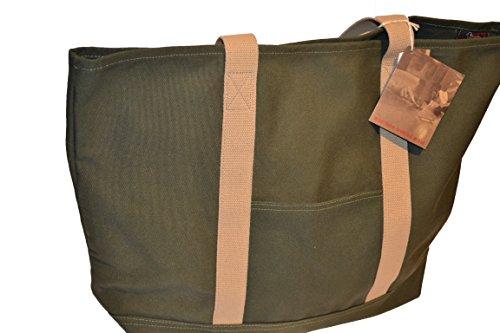 Woolrich - Bolso al hombro de Lona para hombre verde military