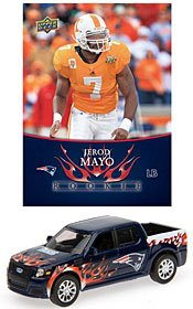 New England Patriots Jerod Mayo 1:64 Ford SVT Adrenalin with 2008 Rookie Card
