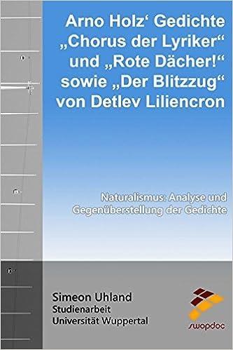 Amazoncom Arno Holz Gedichte Chorus Der Lyriker Und Rote